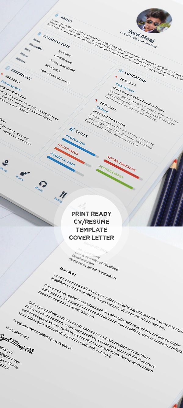 New designed Free Resume Templates and PSD