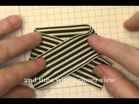 This video shows you the easiest way to make a bow for scrapbooking and card making