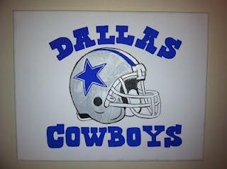 Dallas Cowboys canvas I painted this week!! Go read the new post on my blog for more!