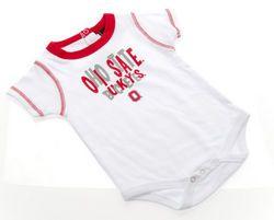 Ohio State Buckeyes Infant Onesie White  www.CampusApparelStore.com