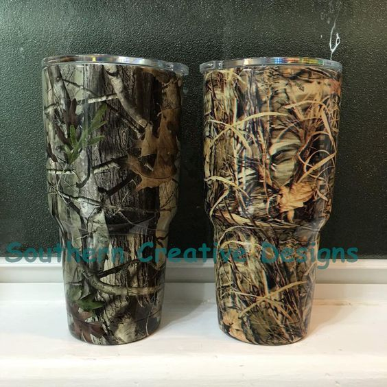 Camo Yeti Rambler 30 oz, Camouflage Cup, Max 4 HD, G2 Camo Yeti Cup, Hydro Dipped Yeti Cup – pinned by pin4etsy.com