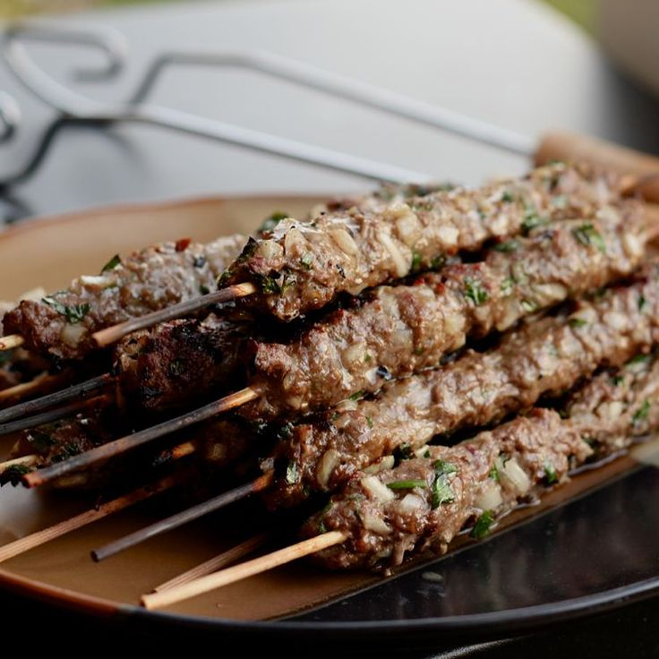 Middle Eastern Beef and Parsley Kabobs