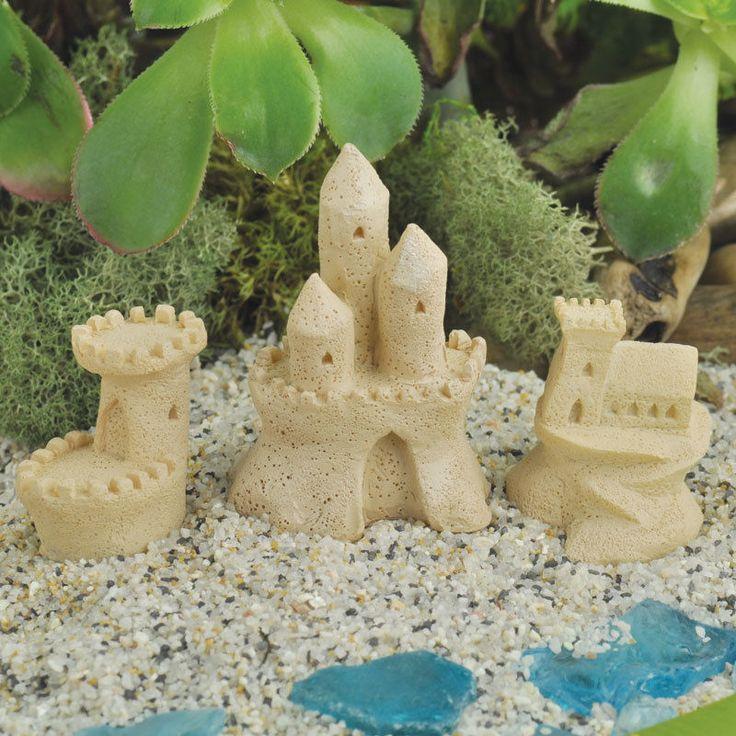 Miniature Fairy Garden Sand Castle Set