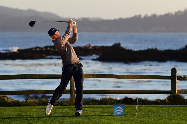 Jordan Spieth Photos Photos - Jordan Spieth hits his tee shot on the 18th hole during Round Three of the AT