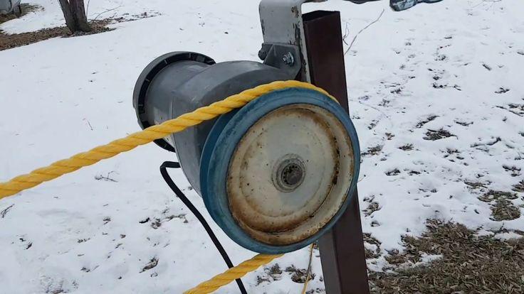 Backyard ski lift rope tow ski lift towing sledding