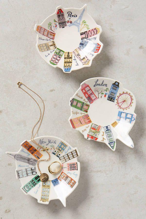 Danielle Kroll Ceramic Skyline Trinket Dish