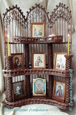 Поделка изделие Новый год Рождество Плетение ЖЕЛАННЫЙ ИКОНОСТАС Трубочки бумажные фото 10