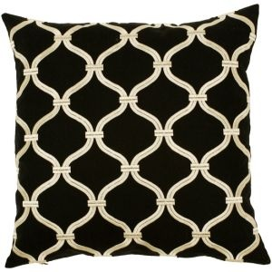 transitional decorative pillow in black and white