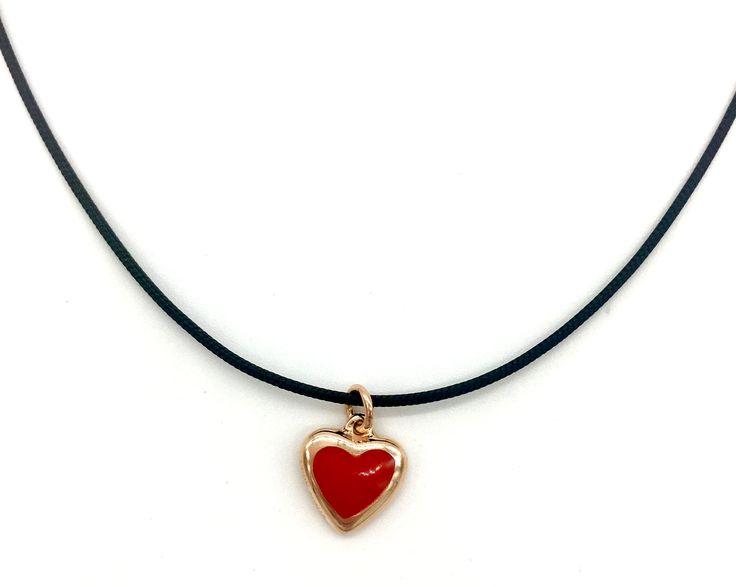 VERY GAVELLO RED ESS HEART K9 PENDANT VPHE-X-R5