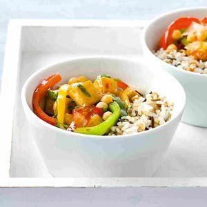 Recept - Meergranenrijst met vegetarische chilisaus - Allerhande