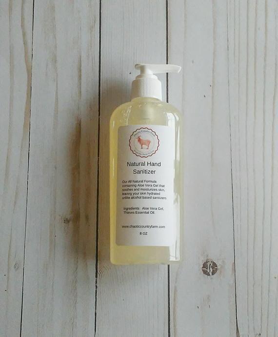 Natural Hand Sanitizer Essential Oil Sanitizer Pump Hand