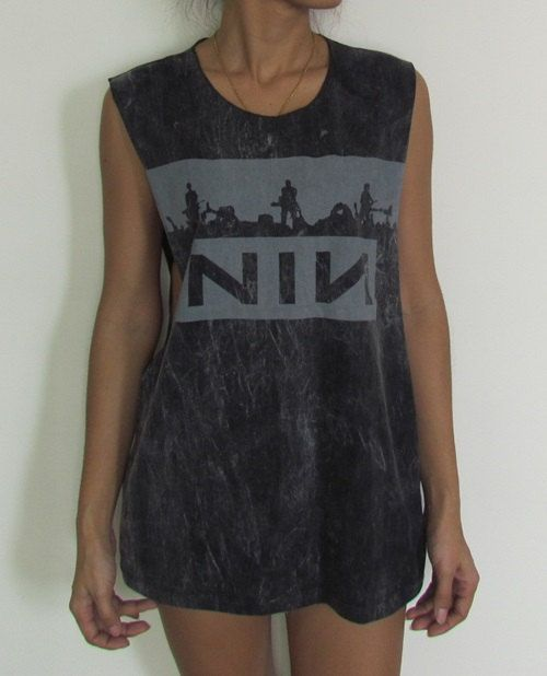Nine Inch Nails Ladies Stonewash Vest Tank Top by CasMeeOnline, £9.99