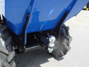 muck truck ball hitch attachment  for easy towing  of trailers and other vehicles.