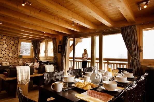 There are fabulous views of the mountains and the valley below from the first floor balcony which extends around three sides of the chalet. The chalet also has a hot tub - great for relaxation after a hard day's skiing or walking in the mountains.  Chalet Etoile, #Nendaz, #Switzerland.  http://www.thehideawaysclub.com/properties2/index/property/id/10/fund/1  #TheHideawaysClub #LuxuryChalet