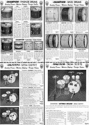 Vintage Drum Catalogs