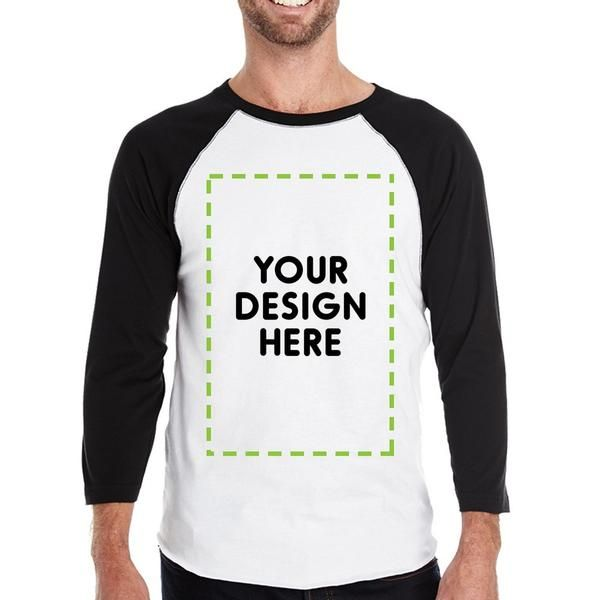 365 Printing Your Design Here Men's Custom Baseball Tee Personalized Gift Ideas
