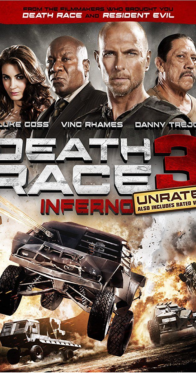 Directed by Roel Reiné.  With Luke Goss, Tanit Phoenix Copley, Danny Trejo, Ving Rhames. Convicted cop-killer Carl Lucas, aka Frankenstein, is a superstar driver in the brutal prison yard demolition derby known as Death Race. Only one victory away from winning freedom for himself and his pit crew.