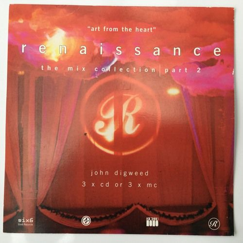 Released Oct 14th 1995 Compiled and Mixed by John Digweed  Renaissance - The Mix collection part 2 CD 1 Twenty years on still sound great.