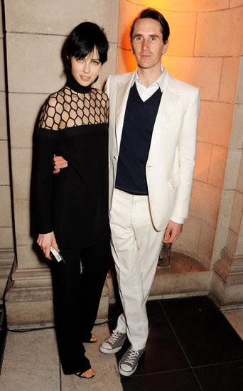 Edie Campbell (in Spring 2013 Gucci) and Otis Ferry at the private view for the David Bowie Is exhibition in London. #fashion