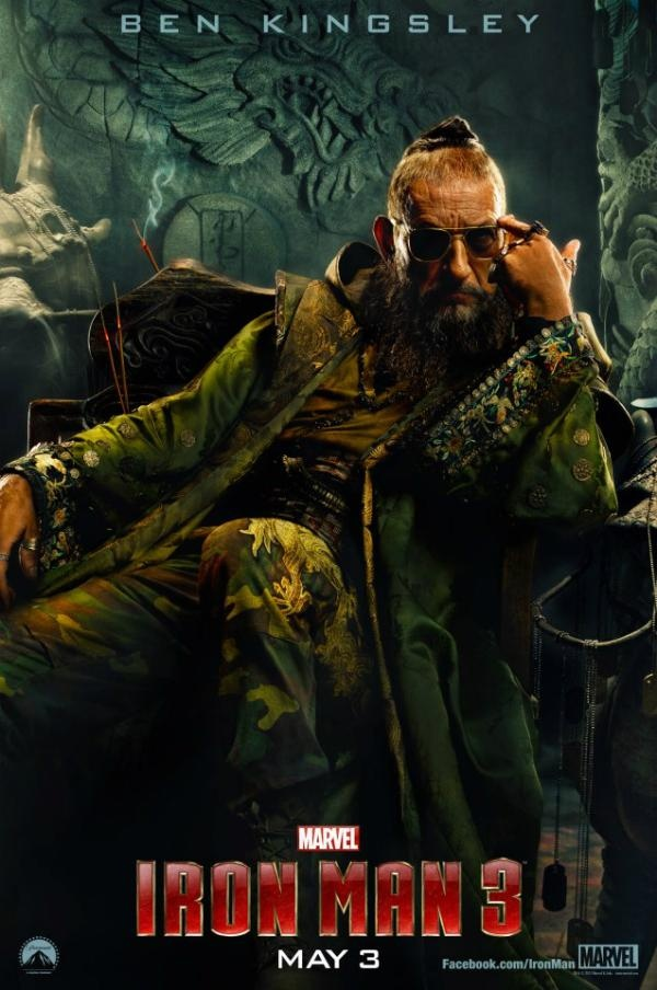 Iron Man 3 Poster For Ben Kingsley in the role of Mandarin