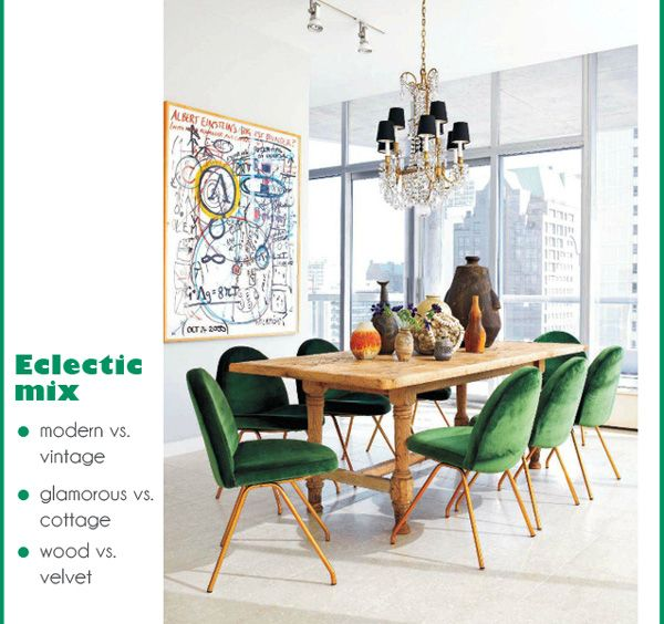 Color of the year - eclectic dining room in Chicago - nice