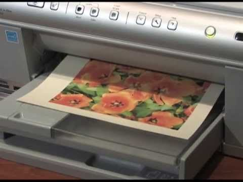 Printing photos on fabric -  Using bubble Jet Set 2000 and Freezer paper.