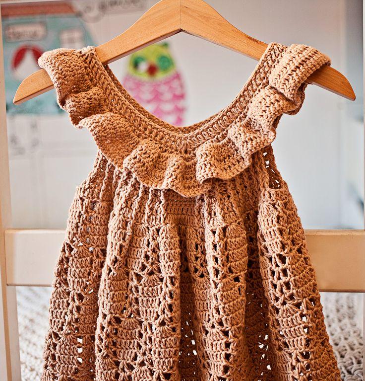 Truffle Ruffle Dress, crochet pattern by Mon Petit Violon   Häkeln ...
