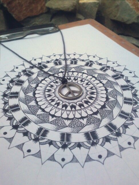#mandala #drawing #pointillism