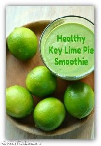 healthy vegetable smoothie recipes Healthy Key Lime Pie Smoothie: For one serving - 1 c. almond milk, 1 frozen banana, 1/2 c. greens, 1 Tbs. seeds (flax), 1/2 c. oats, juice and zest of 2 limes, 1/2 tsp. vanilla