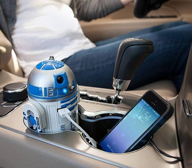 Animated R2-D2 USB Car Charger That Whistles and Beeps, $49.99