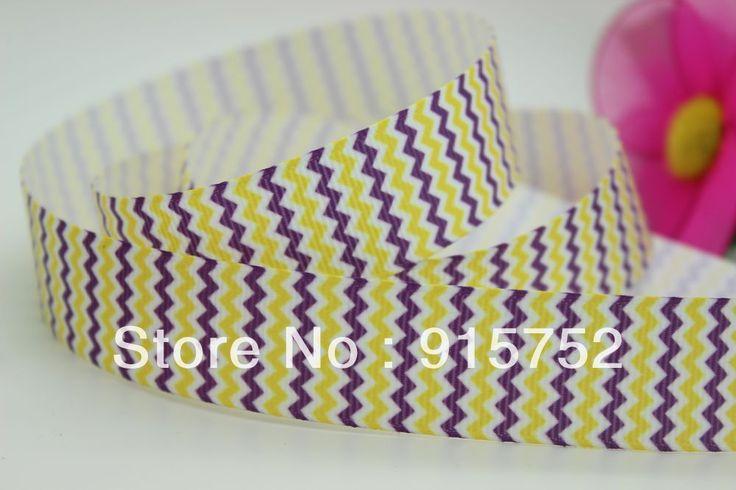 Новый 7/8 ''Бесплатная доставка шеврон печатных grosgrain ленты hairbow поделки украшения партия оптовая OEM 22 мм H450