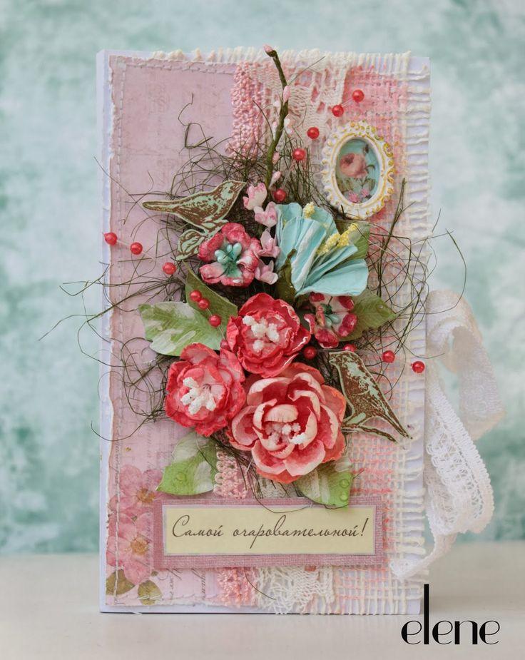 Открытка кард, розы любовь