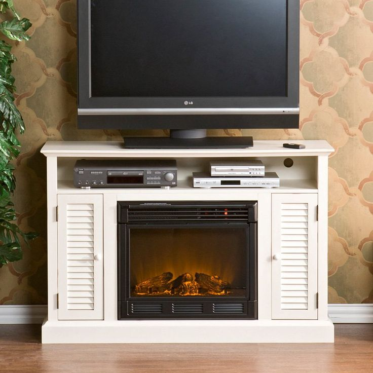 Have to have it. Southern Enterprises Antebellum Antique White Entertainment Center Electric Fireplace - $454.03 @hayneedle