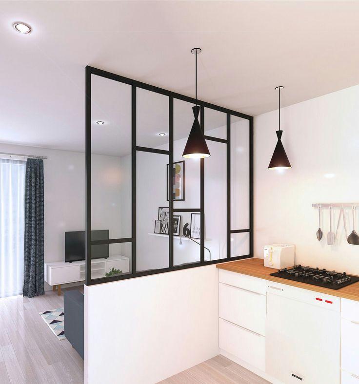 Les 25 meilleures id es de la cat gorie cuisine couloir sur pinterest carre - Cloison vitree cuisine ...