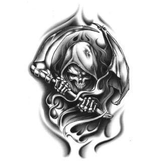 Grim Reaper Vector Tribal Tattoo Wicked Cool