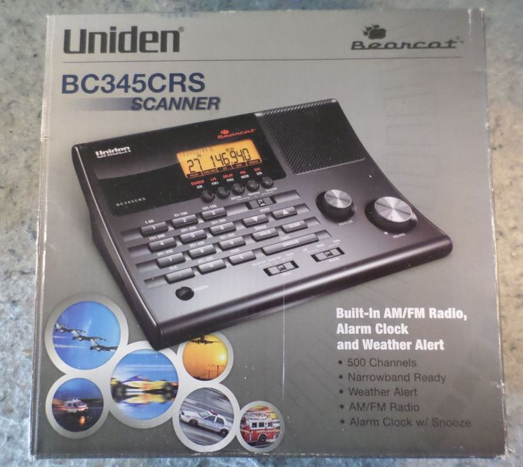 Uniden BC345CRS 500 Channel Clock/Radio Scanner w/ Weather Alert (C19B4) #Uniden