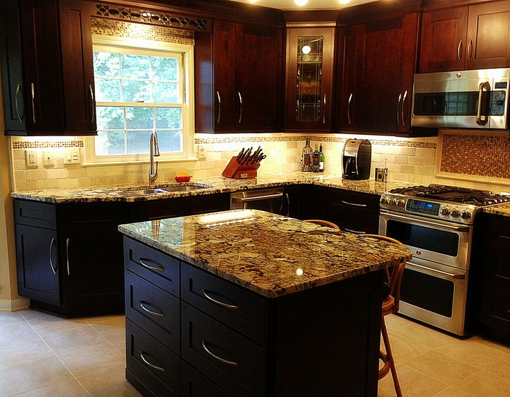 Beautiful Mocha Maple Shaker Cabinets And Exotic Normandy