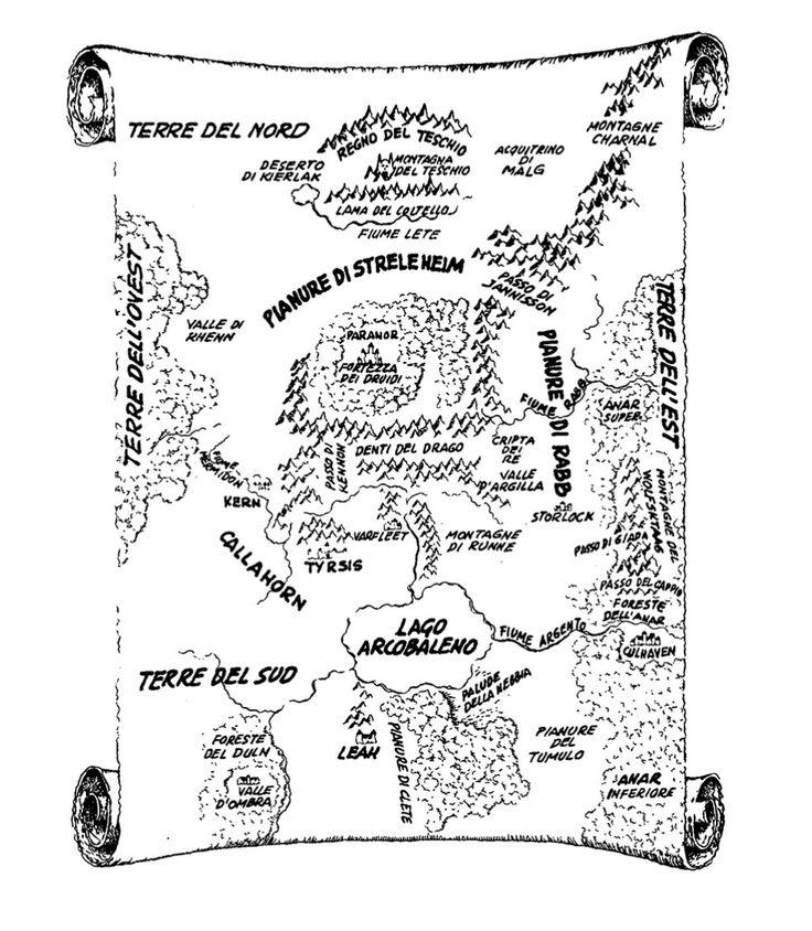Shannara's map E-book 3. The Wishsong of Shannara BRIIIIIIIIN