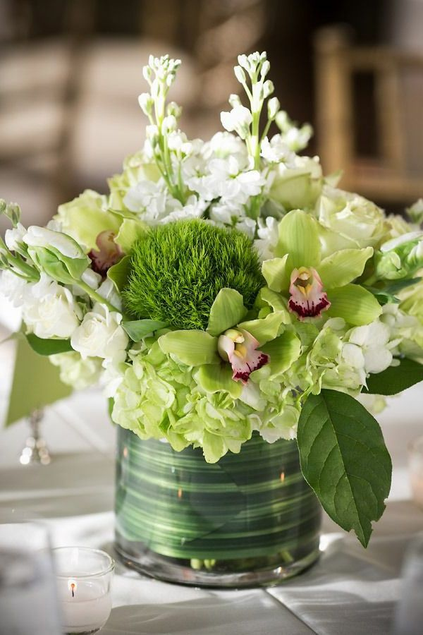 Frische Ideen für die Tischdekoration in Grün und Weiß!   – Hochzeit