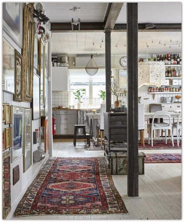 Bohemian style country house in Sweden