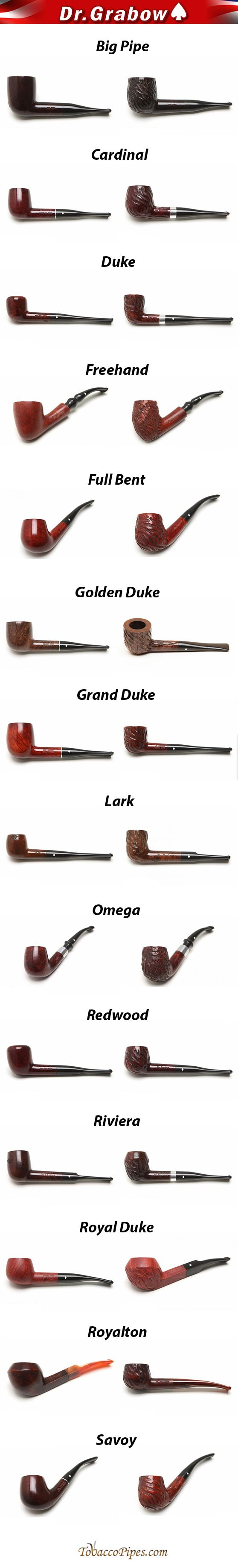 Dr. Grabow Models and Finishes - #1 US Manufactured Selling Pipes