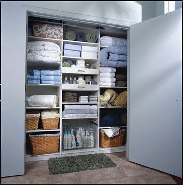 Storage & Closets Photos Design Ideas, Pictures, Remodel, and Decor - page 5 Well organized linen cupboard :)