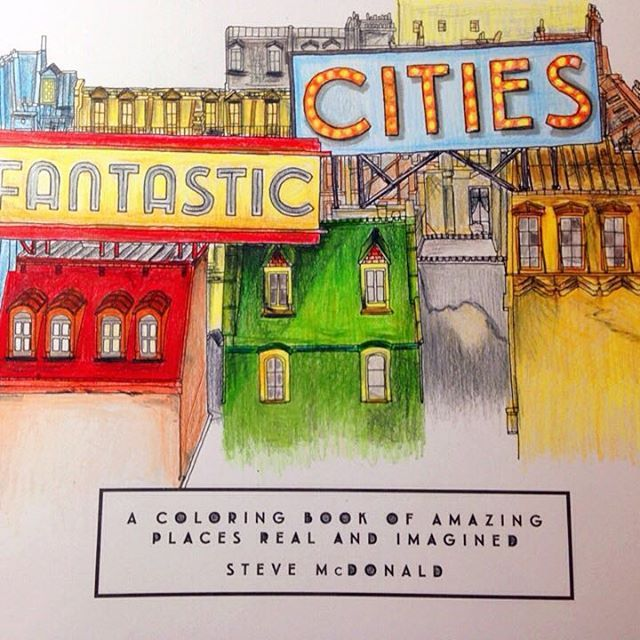 Fantastic City Adultcoloringbook Coloringbook Fantasticcities