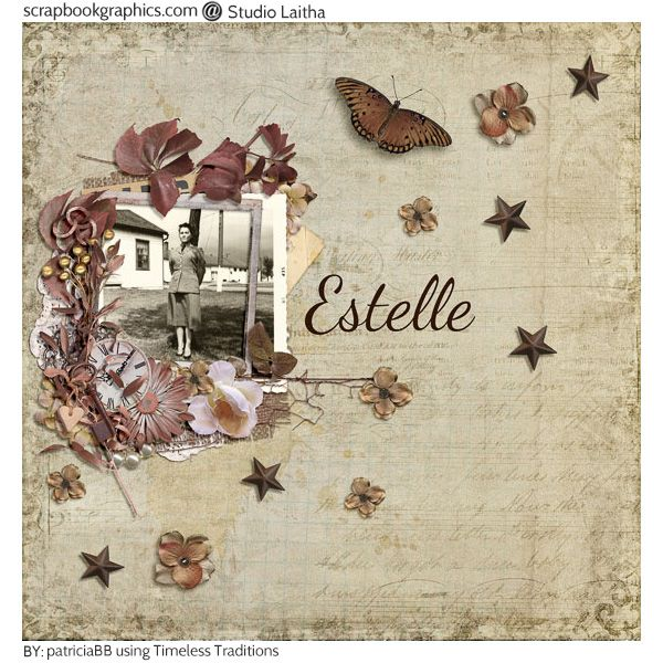 Happy Birthday Sis!  Created used elements from the Timeless Traditions - Page Kit By Studio Laitha (http://shop.scrapbookgraphics.com/Timeless-Traditions-Page-Kit.html0 #StudioLaitha
