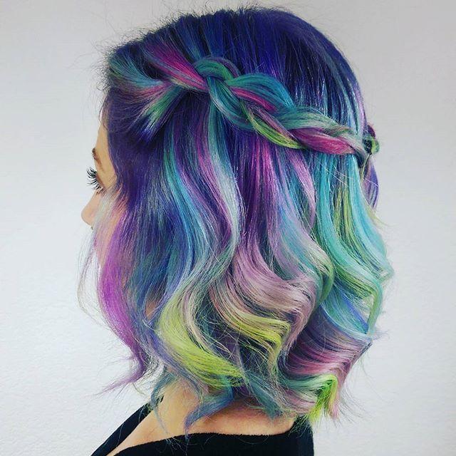 """Braidzzz for dayzzzz by me on @halfmil"" - @hairbymisskellyo #pastelhair #instabraid #dutchbraid #pastelhair #rainbowhair #neonhair #imallaboutthehair #suavecitapomade #suavecita #pomade #braid #hairstyle #hotd #colorful #colorist #stylist #hairdresser #hairstylist"