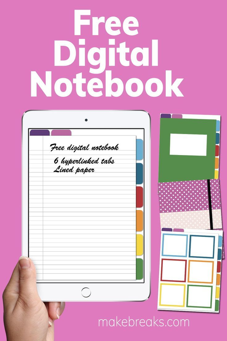 Free Digital Notebook For Goodnotes Other Pdf Readers Make Breaks Digital Notebooks Digital Planner Planner Printables Free