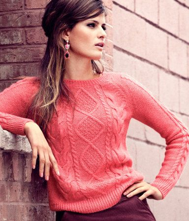 coral pullover by h