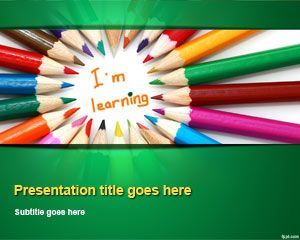 21 best powerpoint templates images on pinterest plants back to kids learning powerpoint template colored pencils green education templatestemplates freeppt toneelgroepblik Images