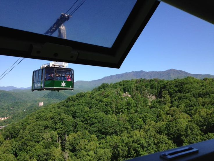 View from the aerial tramway connecting Gatlinburg with the ski area, Ober Gatlinburg, with wonderful views of the Smoky Mountains all around. Photo © by Teri Wood Fishbein