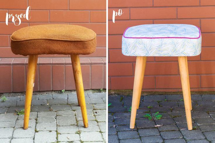 DIY old chair makeover // DIY metamorfoza starego taboretu